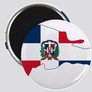 Dominican Republic Flag and Map Magnet